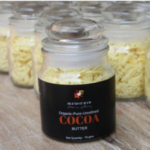 unrefined cocoa butter, blend it raw apothecary cocoa butter