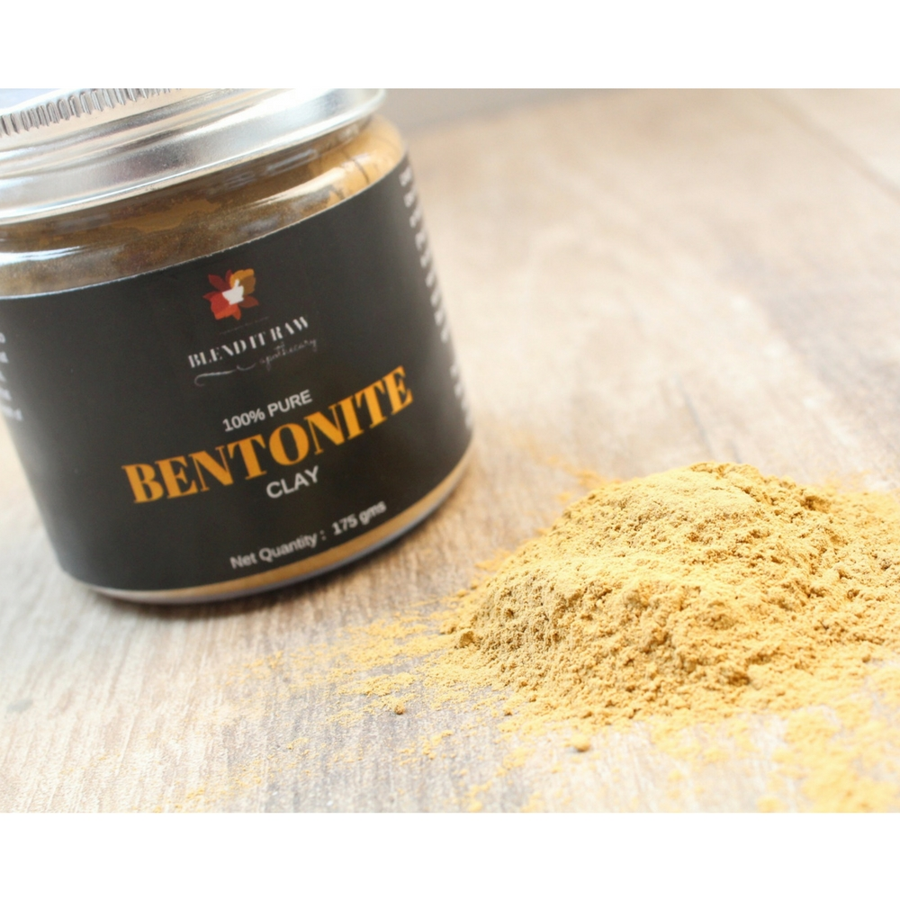 blend it raw beauty , bentonite clay