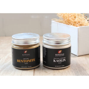 kaolin clay, bentonite clay, blend it raw beauty