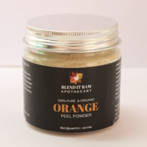 orange peel powder, organic orange peel powder, blend it raw beauty