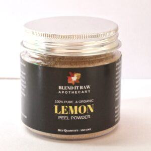 lemon peel powder, organic lemon powder, blend it raw beauty