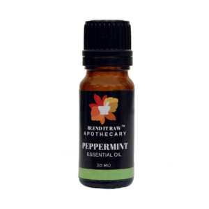 peppermint essential oil, blend it raw apothecary, blend it raw beauty, steam distilled essential oils