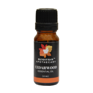 cedarwood essential oil, blend it raw apothecary, blend it raw beauty, steam distilled essential oils