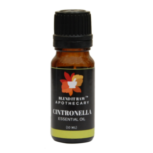 cintronella essential oil, blend it raw apothecary, blend it raw beauty, steam distilled essential oils