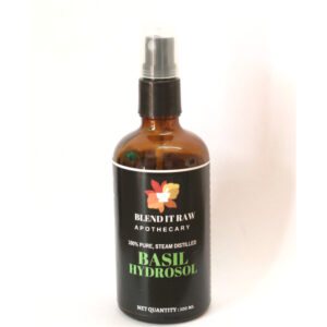 basil hydrosol, organic basil hydrosol, blend it raw beauty, blend it raw apothecary