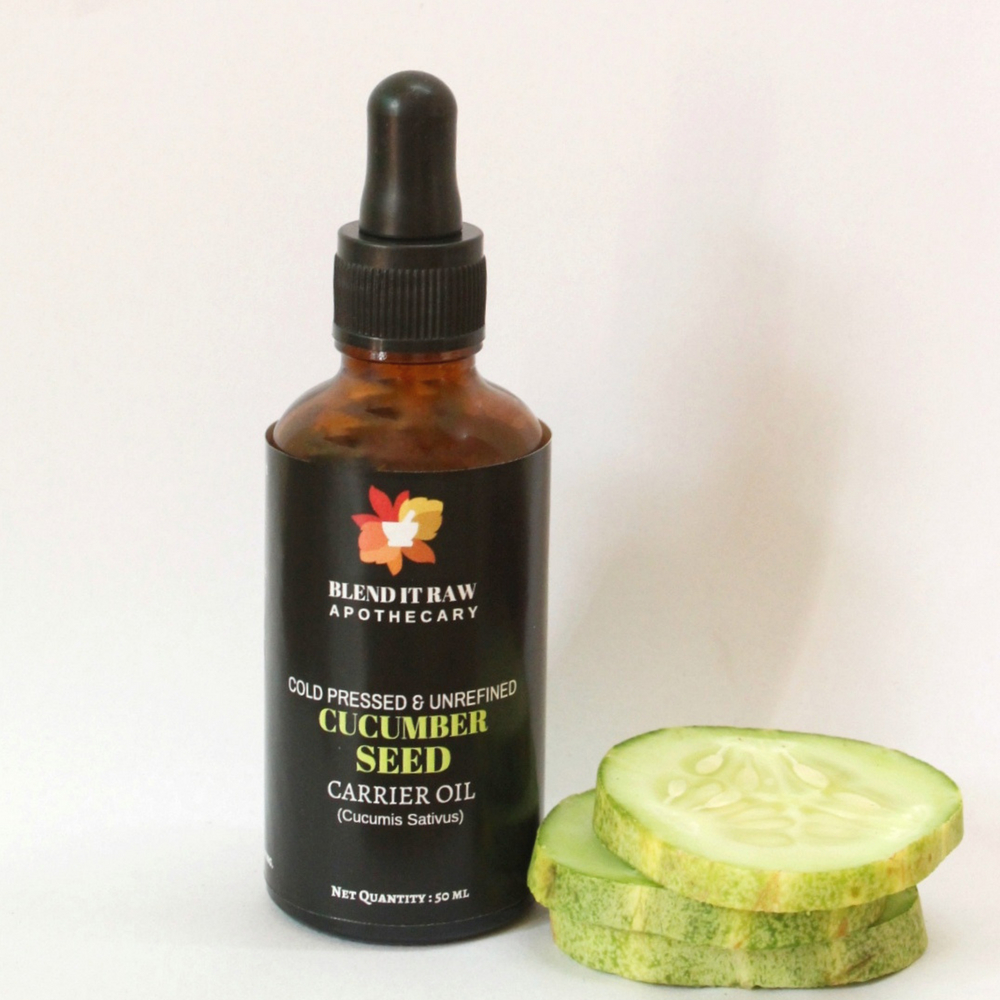 cucumber seed oil, blend it raw beauty, blend it raw apothecary