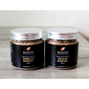 gutti ki khal, apricot scrub, peach scrub, blend it raw beauty