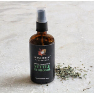 blend it raw beauty, blend it raw apothecary, nettle hydrosol, organic nettle hydrosol